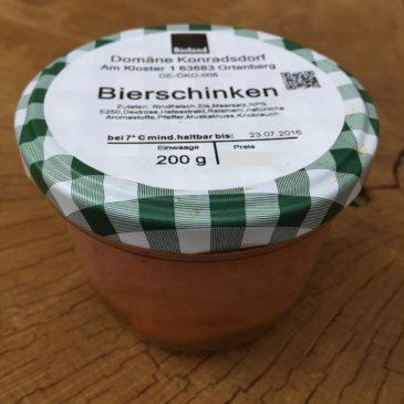 Bio Bierschinken aus Konradsdorf