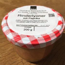 Bio Rinderlyoner mit paprika