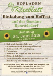 Hofladen, Einladung zum Hoffest 2018